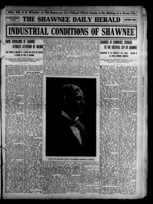Primary view of object titled 'The Shawnee Daily Herald. (Shawnee, Okla.), Vol. 14, No. 292, Ed. 5 Tuesday, June 14, 1910'.