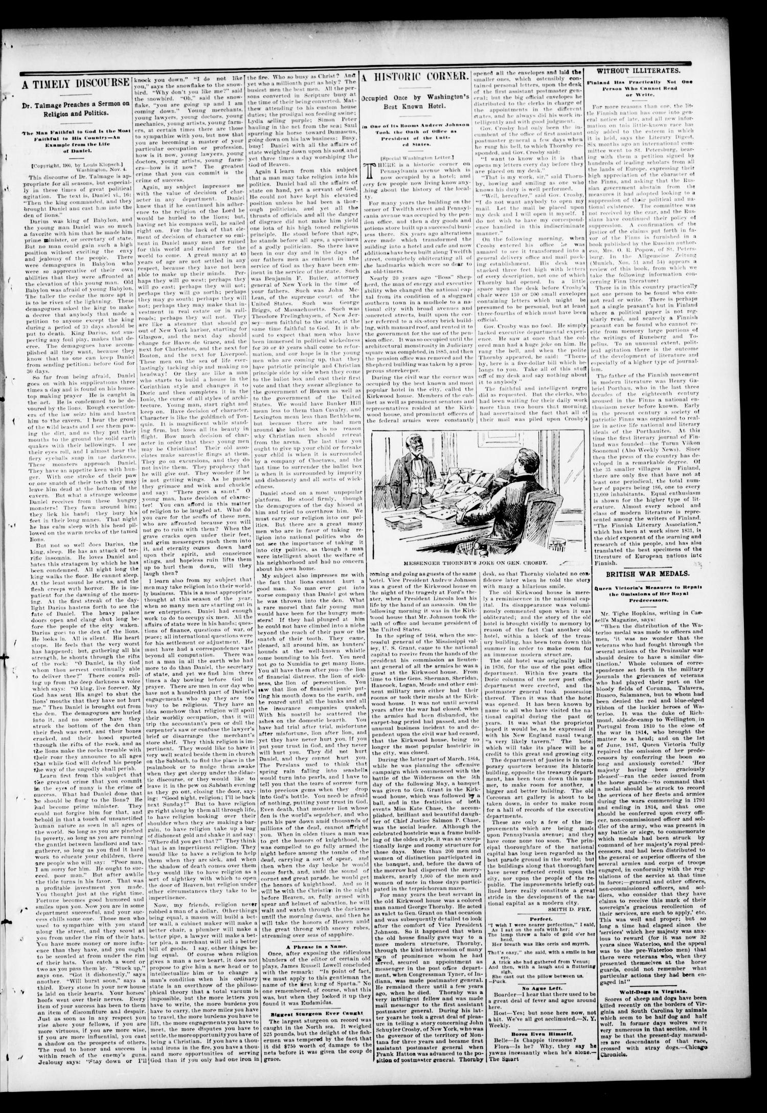 The Hennessey Clipper. (Hennessey, Okla.), Vol. 11, No. 24, Ed. 1 Thursday, November 8, 1900                                                                                                      [Sequence #]: 3 of 8