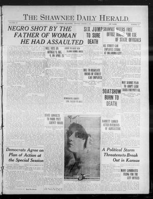 Primary view of object titled 'The Shawnee Daily Herald. (Shawnee, Okla.), Vol. 15, No. 177, Ed. 1 Monday, March 6, 1911'.