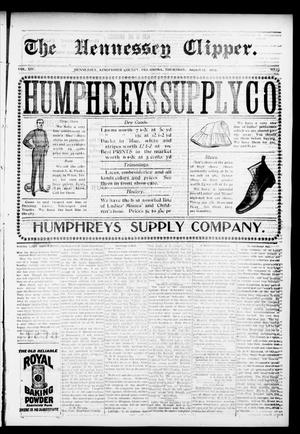 Primary view of object titled 'The Hennessey Clipper. (Hennessey, Okla.), Vol. 14, No. 13, Ed. 1 Thursday, August 27, 1903'.