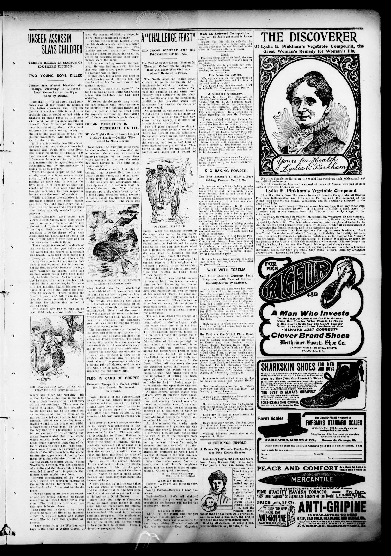 The Hennessey Clipper. (Hennessey, Okla.), Vol. 16, No. 24, Ed. 1 Thursday, November 9, 1905                                                                                                      [Sequence #]: 3 of 8
