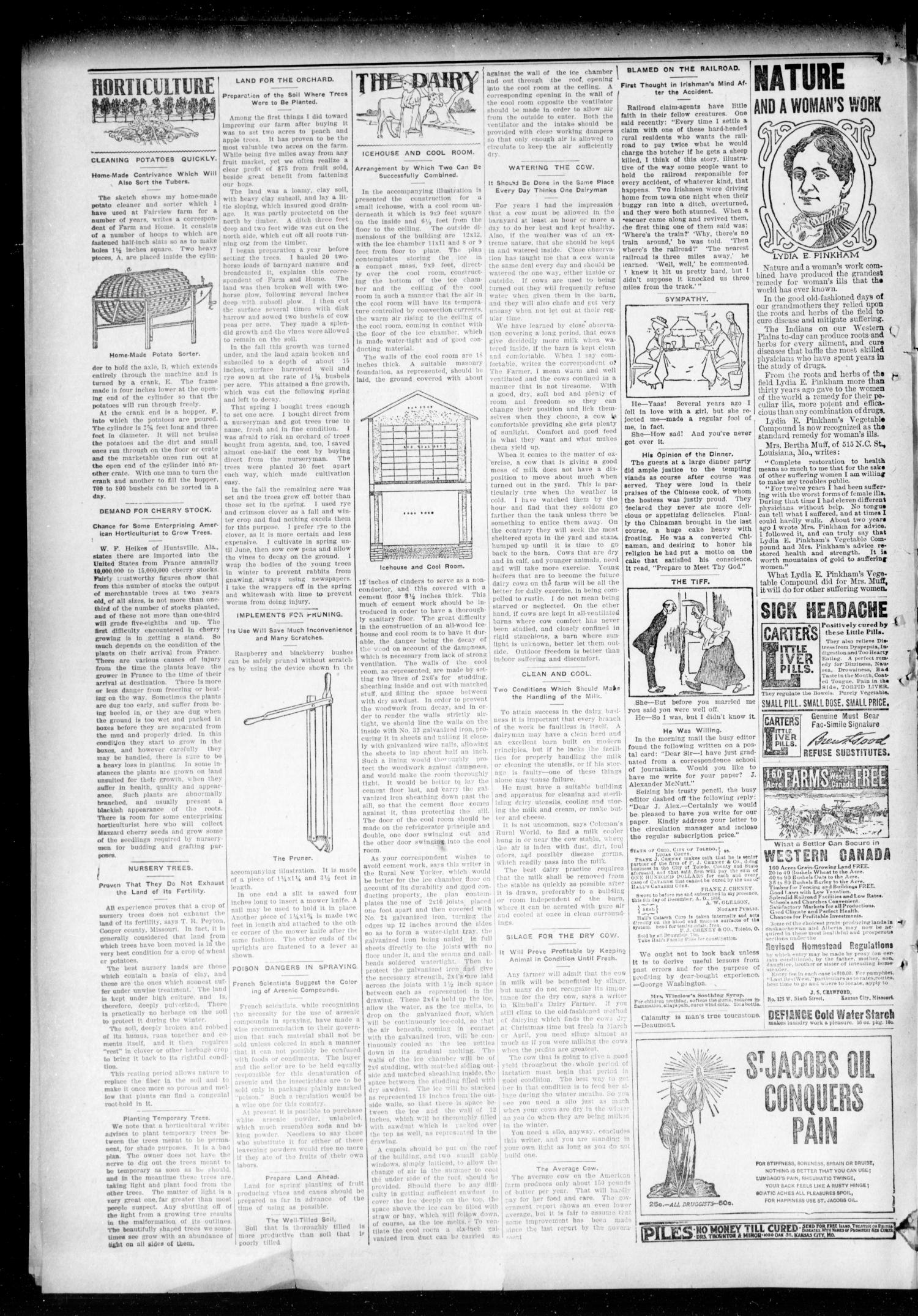 The Hennessey Clipper. (Hennessey, Okla.), Vol. 18, No. 36, Ed. 1 Thursday, January 30, 1908                                                                                                      [Sequence #]: 6 of 8