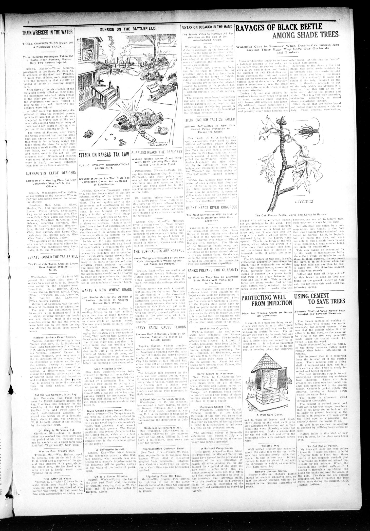 The Hennessey Clipper (Hennessey, Okla.), Vol. 20, No. 10, Ed. 1 Thursday, July 22, 1909                                                                                                      [Sequence #]: 3 of 8