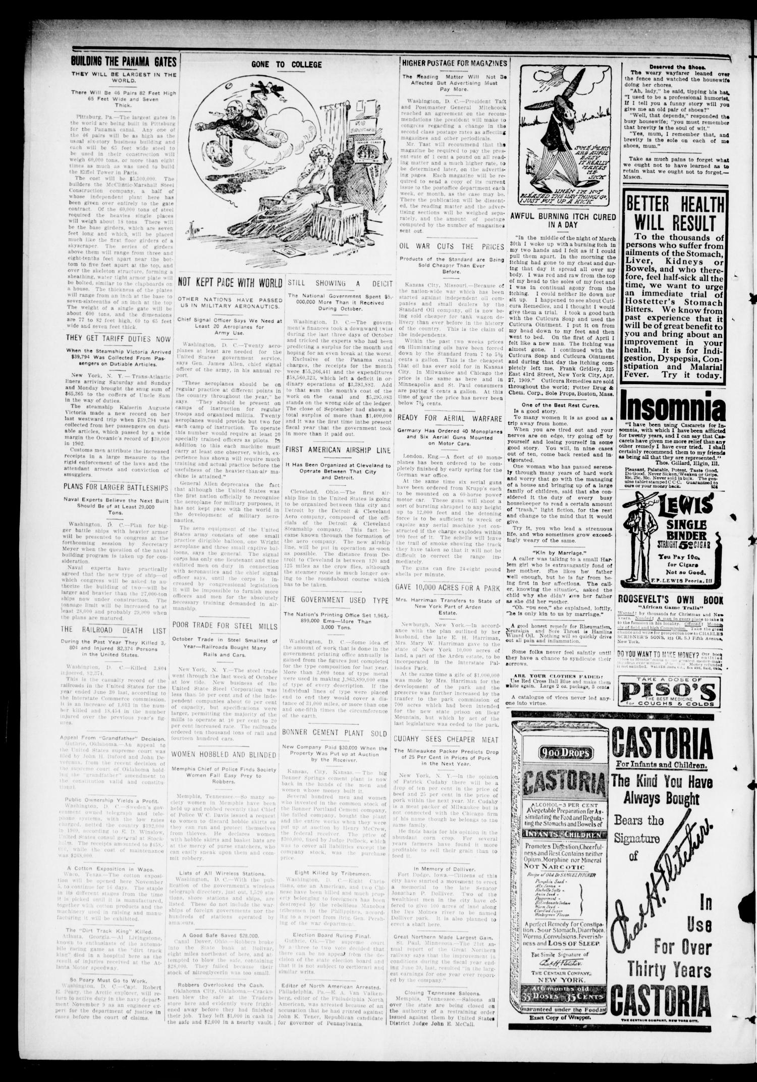 The Hennessey Clipper (Hennessey, Okla.), Vol. 21, No. 26, Ed. 1 Thursday, November 10, 1910                                                                                                      [Sequence #]: 2 of 8