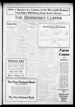 Primary view of object titled 'The Hennessey Clipper (Hennessey, Okla.), Vol. 26, No. 43, Ed. 1 Thursday, March 30, 1916'.