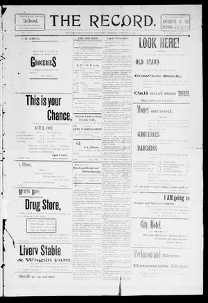 Primary view of object titled 'The Record. (Noble, Okla.), Vol. 1, No. 2, Ed. 1 Thursday, February 27, 1902'.