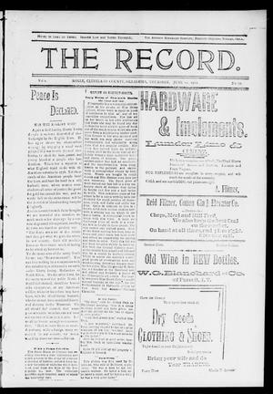 Primary view of object titled 'The Record. (Noble, Okla.), Vol. 1, No. 17, Ed. 1 Thursday, June 12, 1902'.