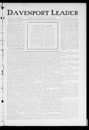 Primary view of object titled 'Davenport Leader (Davenport, Okla.), Vol. 1, No. 2, Ed. 1 Thursday, May 12, 1904'.