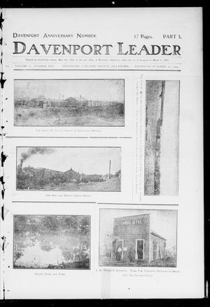Primary view of object titled 'Davenport Leader (Davenport, Okla.), Vol. 1, No. 25, Ed. 1 Thursday, October 20, 1904'.