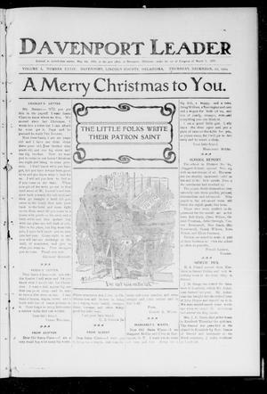Primary view of Davenport Leader (Davenport, Okla.), Vol. 1, No. 34, Ed. 1 Thursday, December 22, 1904