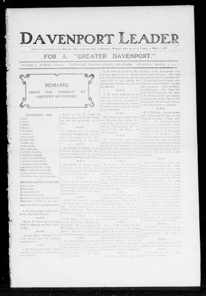 Primary view of object titled 'Davenport Leader (Davenport, Okla.), Vol. 1, No. 44, Ed. 1 Thursday, March 2, 1905'.