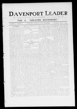 Primary view of object titled 'Davenport Leader (Davenport, Okla.), Vol. 2, No. 1, Ed. 1 Thursday, May 4, 1905'.