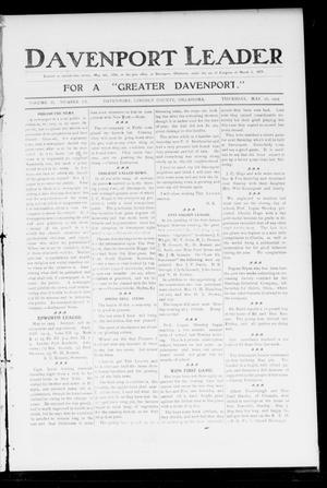 Primary view of object titled 'Davenport Leader (Davenport, Okla.), Vol. 2, No. 3, Ed. 1 Thursday, May 18, 1905'.