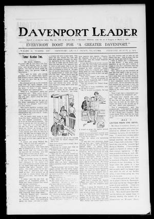 Primary view of object titled 'Davenport Leader (Davenport, Okla.), Vol. 2, No. 14, Ed. 1 Thursday, August 3, 1905'.