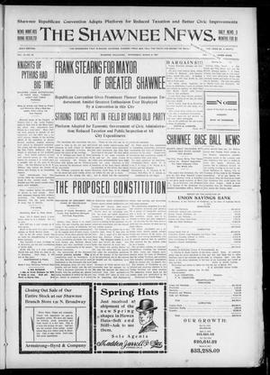 Primary view of object titled 'The Shawnee News. (Shawnee, Okla.), Vol. 10, No. 66, Ed. 1 Wednesday, March 6, 1907'.