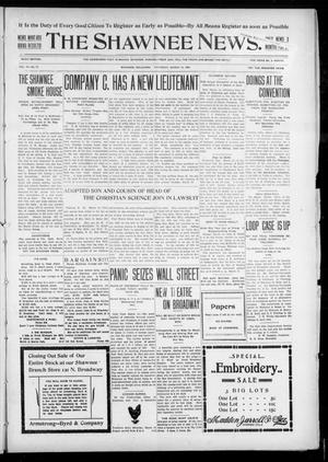Primary view of object titled 'The Shawnee News. (Shawnee, Okla.), Vol. 10, No. 73, Ed. 1 Thursday, March 14, 1907'.