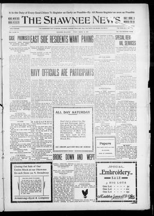 Primary view of object titled 'The Shawnee News. (Shawnee, Okla.), Vol. 10, No. 74, Ed. 1 Friday, March 15, 1907'.