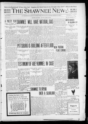 Primary view of object titled 'The Shawnee News. (Shawnee, Okla.), Vol. 10, No. 75, Ed. 2 Saturday, March 16, 1907'.