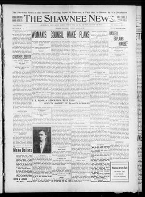 Primary view of object titled 'The Shawnee News. (Shawnee, Okla.), Vol. 10, No. 82, Ed. 1 Monday, March 25, 1907'.