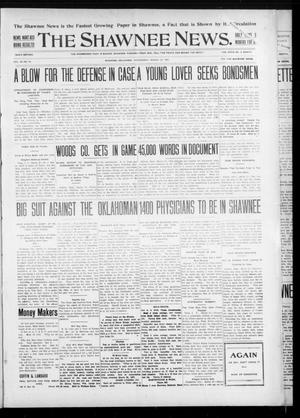 Primary view of object titled 'The Shawnee News. (Shawnee, Okla.), Vol. 10, No. 84, Ed. 1 Wednesday, March 27, 1907'.