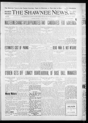Primary view of object titled 'The Shawnee News. (Shawnee, Okla.), Vol. 10, No. 85, Ed. 1 Thursday, March 28, 1907'.