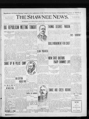 Primary view of object titled 'The Shawnee News. (Shawnee, Okla.), Vol. 10, No. 126, Ed. 1 Tuesday, May 14, 1907'.