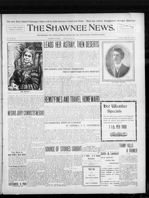 Primary view of object titled 'The Shawnee News. (Shawnee, Okla.), Vol. 10, No. 135, Ed. 1 Friday, May 24, 1907'.