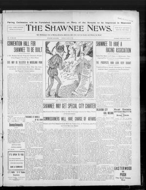 Primary view of object titled 'The Shawnee News. (Shawnee, Okla.), Vol. 10, No. 160, Ed. 1 Monday, June 24, 1907'.