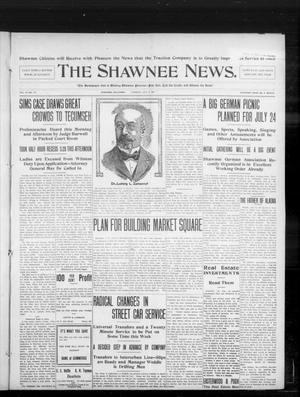 Primary view of object titled 'The Shawnee News. (Shawnee, Okla.), Vol. 10, No. 171, Ed. 1 Tuesday, July 9, 1907'.