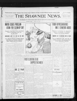 Primary view of object titled 'The Shawnee News. (Shawnee, Okla.), Vol. 10, No. 176, Ed. 1 Monday, July 15, 1907'.