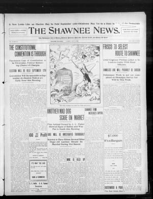 Primary view of object titled 'The Shawnee News. (Shawnee, Okla.), Vol. 10, No. 177, Ed. 1 Tuesday, July 16, 1907'.