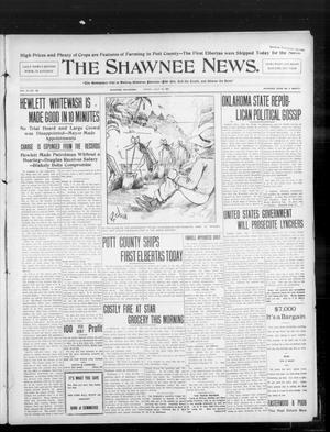 Primary view of object titled 'The Shawnee News. (Shawnee, Okla.), Vol. 10, No. 180, Ed. 1 Friday, July 19, 1907'.