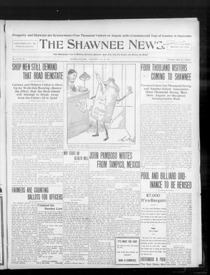 Primary view of object titled 'The Shawnee News. (Shawnee, Okla.), Vol. 10, No. 184, Ed. 1 Wednesday, July 24, 1907'.