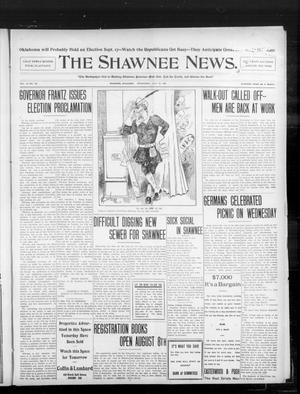 Primary view of object titled 'The Shawnee News. (Shawnee, Okla.), Vol. 10, No. 185, Ed. 1 Thursday, July 25, 1907'.
