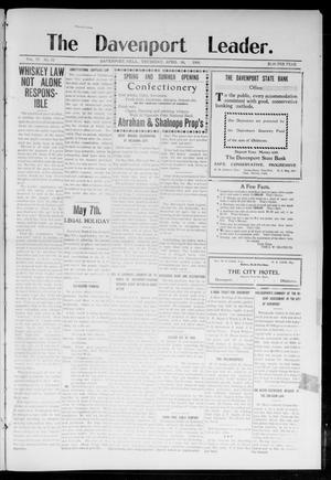 Primary view of object titled 'The Davenport Leader. (Davenport, Okla.), Vol. 4, No. 50, Ed. 1 Thursday, April 30, 1908'.