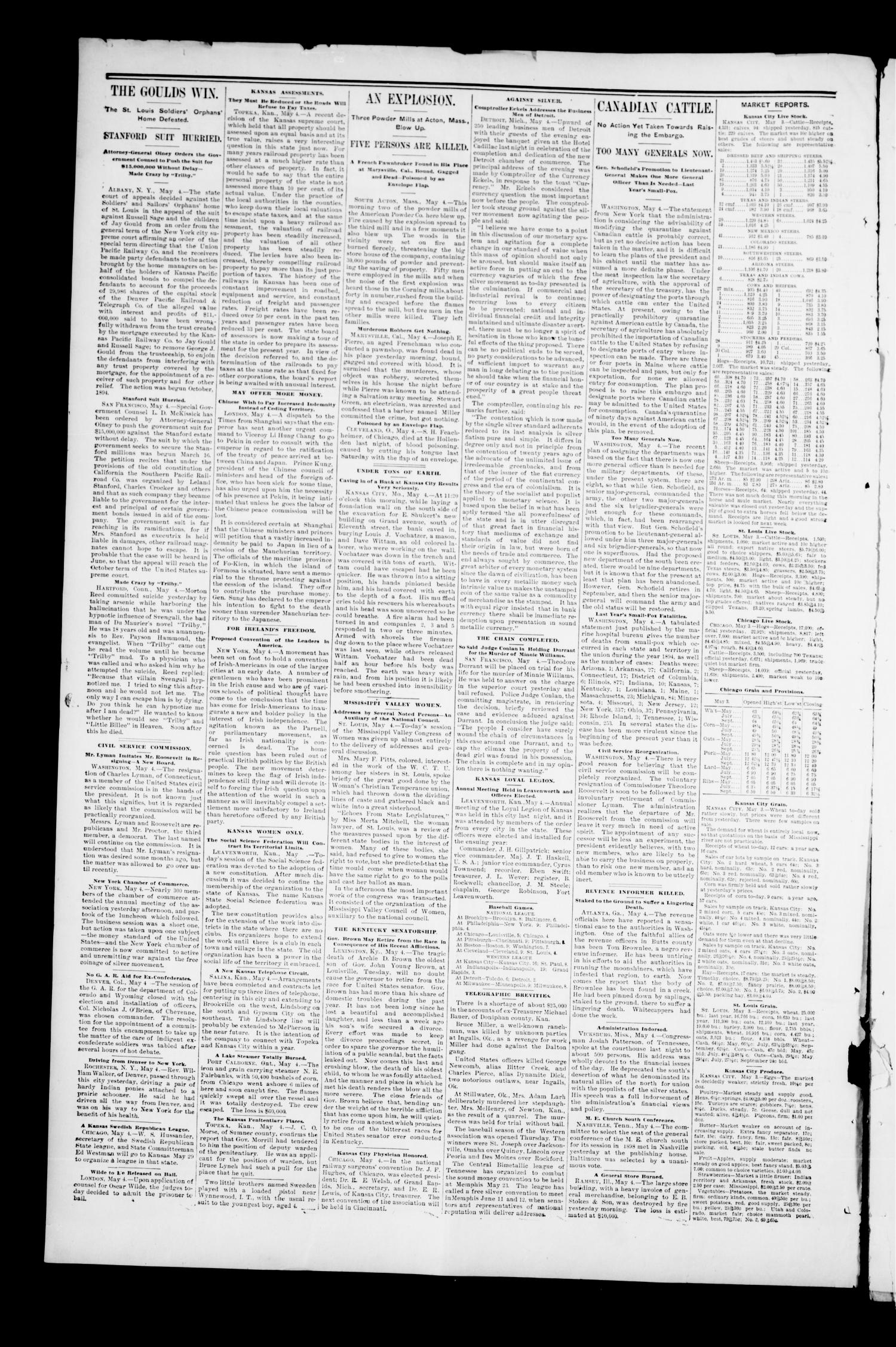 Perry Daily Enterprise. (Perry, Okla.), Vol. 1, No. 1, Ed. 1 Saturday, May 4, 1895                                                                                                      [Sequence #]: 2 of 4