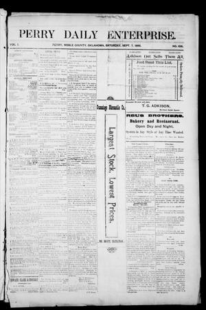Primary view of object titled 'Perry Daily Enterprise. (Perry, Okla.), Vol. 1, No. 3, Ed. 1 Tuesday, May 7, 1895'.