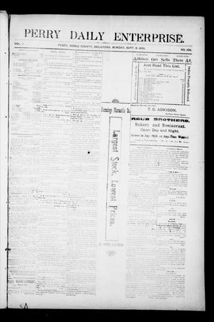 Primary view of object titled 'Perry Daily Enterprise. (Perry, Okla.), Vol. 1, No. 109, Ed. 1 Monday, September 9, 1895'.