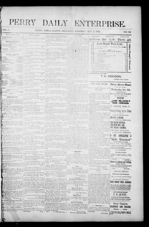Primary view of object titled 'Perry Daily Enterprise. (Perry, Okla.), Vol. 1, No. 130, Ed. 1 Thursday, October 3, 1895'.