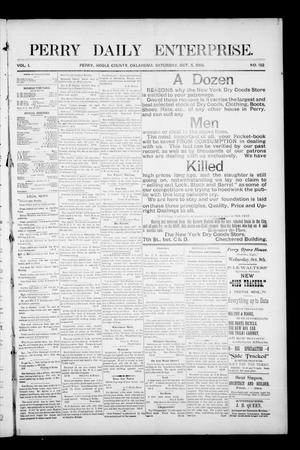 Primary view of object titled 'Perry Daily Enterprise. (Perry, Okla.), Vol. 1, No. 132, Ed. 1 Saturday, October 5, 1895'.