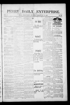 Primary view of object titled 'Perry Daily Enterprise. (Perry, Okla.), Vol. 1, No. 140, Ed. 1 Tuesday, October 15, 1895'.