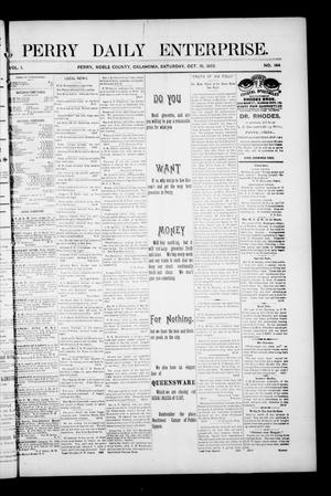 Primary view of object titled 'Perry Daily Enterprise. (Perry, Okla.), Vol. 1, No. 144, Ed. 1 Saturday, October 19, 1895'.