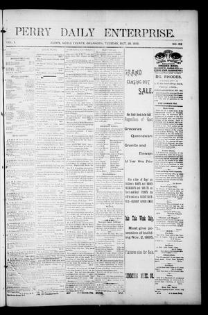 Primary view of object titled 'Perry Daily Enterprise. (Perry, Okla.), Vol. 1, No. 152, Ed. 1 Tuesday, October 29, 1895'.