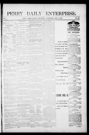 Primary view of object titled 'Perry Daily Enterprise. (Perry, Okla.), Vol. 1, No. 159, Ed. 1 Wednesday, November 6, 1895'.