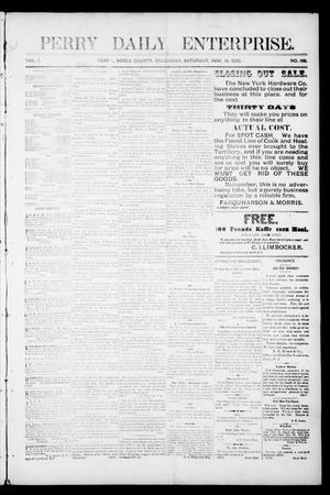 Perry Daily Enterprise. (Perry, Okla.), Vol. 1, No. 168, Ed. 1 Saturday, November 16, 1895