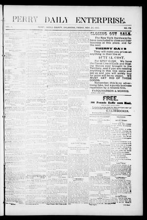 Primary view of object titled 'Perry Daily Enterprise. (Perry, Okla.), Vol. 1, No. 173, Ed. 1 Friday, November 22, 1895'.