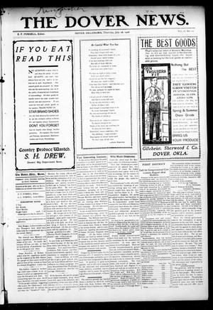 Primary view of object titled 'The Dover News. (Dover, Okla.), Vol. 6, No. 22, Ed. 1 Thursday, July 26, 1906'.