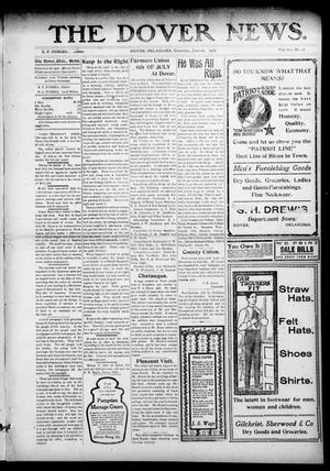 Primary view of object titled 'The Dover News. (Dover, Okla.), Vol. 7, No. 17, Ed. 1 Thursday, June 20, 1907'.