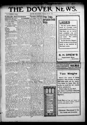 Primary view of object titled 'The Dover News. (Dover, Okla.), Vol. 7, No. 21, Ed. 1 Thursday, July 18, 1907'.