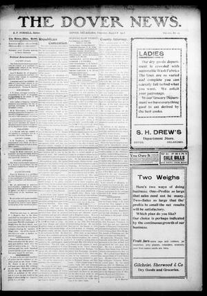 Primary view of object titled 'The Dover News. (Dover, Okla.), Vol. 7, No. 24, Ed. 1 Thursday, August 8, 1907'.